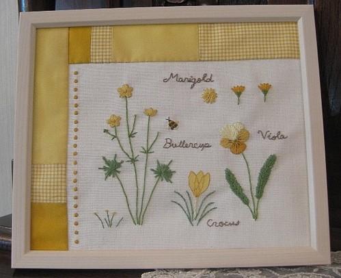 黄色の花ノート